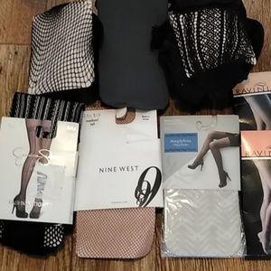 NWT Jessica Simpson Nine West fishnet stockings 8